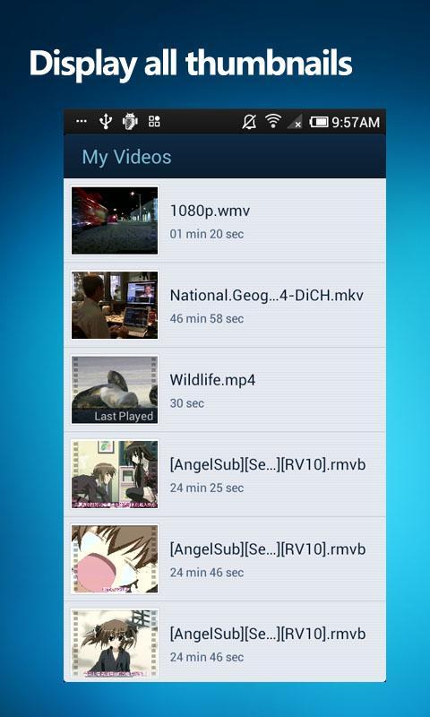 QQPlayer Display all thumbnails